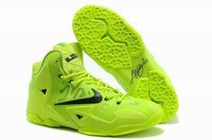 Nike Lebron 11 Fluorescent Green $87.99 http://www.shopitfire.com