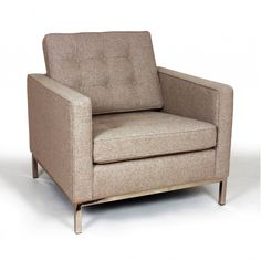 The West 1 seater Sofa in wheat cashmere wool upholstery-Home and Garden Design Ideas