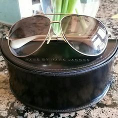 Marc by Marc Jacobs Aviators Gold/white Marc by Marc Jacobs aviators. Case included! Marc by Marc Jacobs Accessories Sunglasses