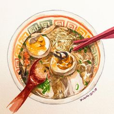 "1,292 Likes, 7 Comments - watercolor food painting/맛있는그림 (@dalgura) on Instagram: ""다시 일상.. 언제 다녀왔다는듯이 돌아와버린 일상이 내심 아쉽다.…"""