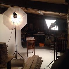 By night #aliceblogg workshop turns into a photo studio. @gravetyemanor cheese trolley.