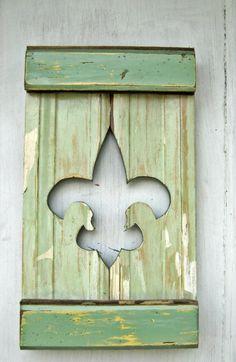 Reclaimed Wood Fleur De Lis  New Orleans Decor by woodenaht, $30.00
