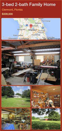 3-bed 2-bath Family Home in Clermont, Florida ►$339,000 #PropertyForSaleFlorida http://florida-magic.com/properties/34678-family-home-for-sale-in-clermont-florida-with-3-bedroom-2-bathroom