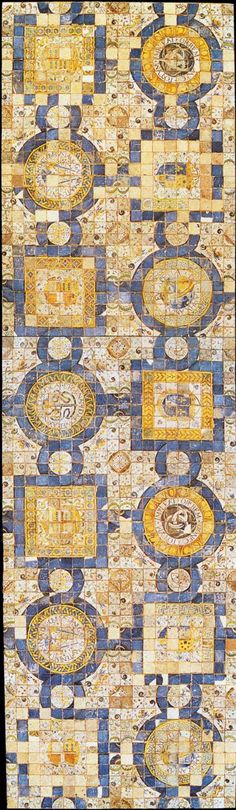 Ceramic Floor 1542 - Masséot Abaquesne -  Ceramics Musée National de la Renaissance, Écouen