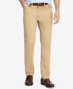 Polo Ralph Lauren Men's Prospect Slim-Straight Sateen Pants - Luxury Tan 34x32