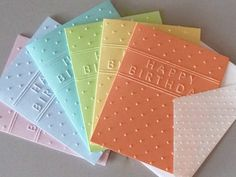 Hey, I found this really awesome Etsy listing at https://www.etsy.com/listing/275767542/happy-birthday-card-set-embossed