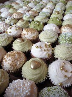 Gold, Purple, Blue and Auburn cupcakes