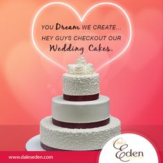 You Dream We Create... Hey Guys Checkout Our Popular Cakes.  #PopularCakes #YourDreams #WeddingCakes http://daleseden.com/cakes/wedding-cakes.html