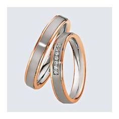 Verighete din aur alb cu aur roz si briliante. Cu interiorul bombat, pentru un confort maxim la purtare. Gold Rings, Wedding Rings, Rose Gold, Engagement Rings, Jewelry, Beautiful, Google, Ring, Enagement Rings