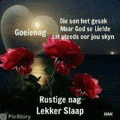 Goeie Nag, Afrikaans Quotes, Good Night Quotes, God, Perennials, Garden, Dios, Garten, Lawn And Garden