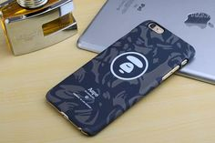 Fashion Bape Phone Case Pithecanthrope  Pattern Painted  Hard Phone Case Back Cover For iPhone 5 5s SE