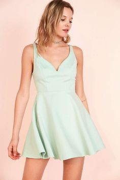 11 ways to wear green for St. Patrick's Day without looking cheesy, like this mini mint dress with a sweetheart neckline.