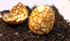 chinese tea eggs  When I was in Shenzhen I ate these every morning! (Except they didn't have cracked shells) So yummy!
