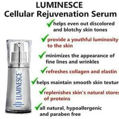 Luminesce Serum with Stem Cell Technology. Over 250 Growth Factors in each bottle communicating with our own cells to repair and heal the skin. All natural, no chemicals or bi-products. Latina, Acne Oil, Smooth Skin, Anti Aging Skin Care, Natural Skin, Natural Beauty, Collagen, Serum, Selfie