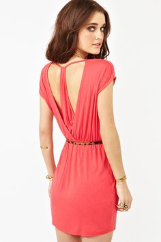 406975b7b66 Racer Wrap Dress - Super cute coral dress featuring a wrap skirt and draped  racerback.