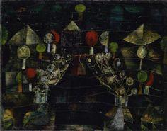 Paul Klee Women's Pavilion (1921) oil on cardboard 52.3 x 41.7 cm