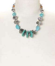 Look what I found on #zulily! Turquoise Chunky-Bead Necklace #zulilyfinds ‪#‎boho‬ ‪#‎southwest‬ ‪#‎turquoise‬ ‪#‎jewelry‬ ‪#‎jewelrysale ‬#giftidea ‪#‎bracelet‬ ‪#‎necklace‬ ‪#‎earrings‬ ‪#‎gemstone‬ ‪#‎sale‬