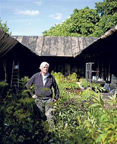 Piet Oudolf at work at the Serpentine Gallery pavilion