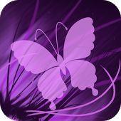 Lila Mariposa Fondo Animado. Sencillamente lindo