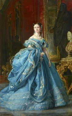 Vintage Gowns, Mode Vintage, Vintage Outfits, Victorian Art, Victorian Fashion, Vintage Fashion, Rococo Fashion, Bourbon, Historical Costume