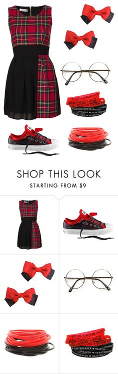 """""""AJ Lee inspired"""" by randomnerd ❤ liked on Polyvore featuring Topshop, Converse and Hot Topic"""