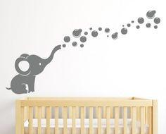 Zoxoro.com.au | Elephant Bubbles Wall Decal Nursery Decor