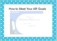 Setting AR Goals and How to Help Students Meet AR Goals...with freebies