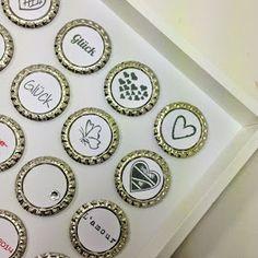 Ines Felix - Kreatives zum Nachmachen: Hochzeits-Bild-Geschenk mit Vorlage zum Ausdrucken