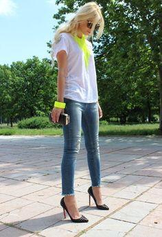 Christian Louboutin  Heels / Wedges, Zara  Jeans and Zara  T Shirts