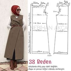 This post was discovered by ja Coat Patterns, Dress Sewing Patterns, Clothing Patterns, Abaya Pattern, Bodice Pattern, Fashion Sewing, Diy Fashion, Sewing Clothes, Diy Clothes