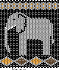 Shala's Beadwork and other distractions Peyote Stitch Patterns, Loom Patterns, Beading Patterns, Pixel Crochet, Beaded Angels, Perler Bead Templates, Elephant Pattern, Tapestry Crochet, Beaded Bags