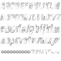 Newside FP Outline Italic Font