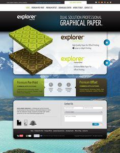 Explorer Graphic website by hugraphic , via Behance