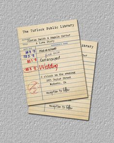 Library Card Invitation, Library Wedding Invitation, Library Baby Shower Invitation, Save The Date, Invite on Etsy, $12.00