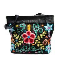 """Black Embroidered Handbag : Choose """"fashion that fights poverty"""" this winter and with this lively Peruvian embroidered purse."""