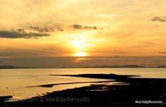 Sunset over Great Salt Lake, Antelope Island, Utah