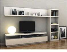 17 veces he visto estas agraciadas muebles minimalistas. Tv Unit Furniture, Furniture Design, Modular Furniture, Home Living Room, Living Room Decor, Living Room Tv Unit Designs, Muebles Living, Family Room, House Design