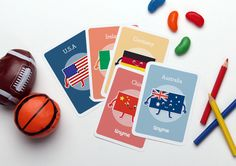 Flag Playing Cards :: Free Printables :: Tinyme.com