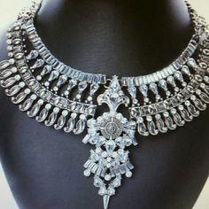 Bohemian silver tone bib statement necklace Bohemian silvertone bib statement necklace myriad Design  Jewelry Necklaces