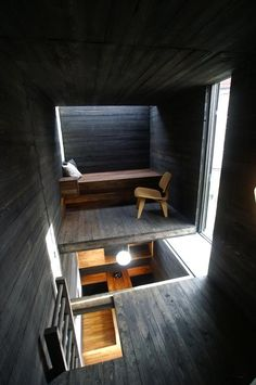 "Small dwelling in Oslo described by its architects as ""a kind of urban cave""."
