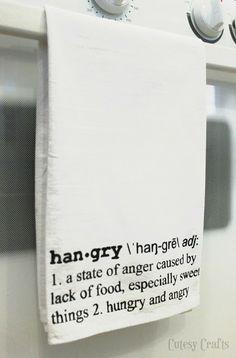 Definition Art Stenciled Tea Towel