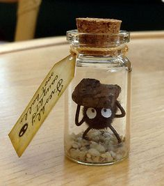 Soot ball Soot sprite Coal Studio Ghibli Totoro Spirited Away Howls Castle Gift in Toys & Games, TV & Film Character Toys, TV Characters Hayao Miyazaki, Bottle Charms, Glass Bottle, Spirited Away, My Neighbor Totoro, Neighbor Gifts, Diy And Crafts, Cork Crafts, Polymer Clay