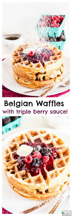Make your weekend brunch special with these Homemade Belgian Waffles. They are topped with a fresh triple berry sauce which make them…