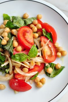 For this Simple Chickpea Salad, we're using just seven ingredients and one bowl for a tasty and nutritious dish.