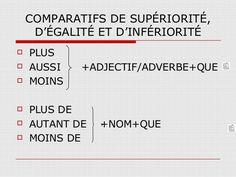 3º ESO. Les comparatifs | Francale