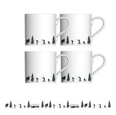Serve your morning coffee-shots with this 4 piece Joie De Vie Espresso Cup Gift Set! Perfect for sharpening your senses for a day off the piste, this pristine Powderhound coffeeware is the stylish way to serve a stimulating espresso. Coffee Shot, Coffee Cups, Black Luxury, Espresso Cups, White Porcelain, Morning Coffee, Great Gifts, Kitchen Country, Pure Products