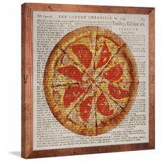 Historical Pizza' Canvas with Reclaimed Douglas Fir Frame
