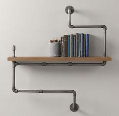 Industrial Pipe Shelf