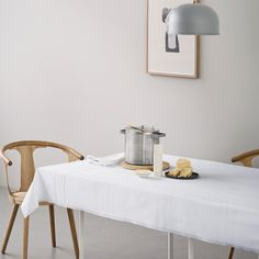 Design: Margrethe Odgaard The collection is a celebration of making an effort. To make every meal a special occasion, whether setting the table for spaghetti bolognese or a wedding. www.georgjensen-damask.com/taffel-tablecloth-white/