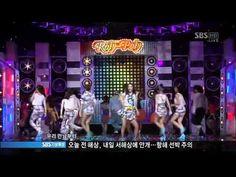 [SBS] 인기가요 티아라-롤리폴리 (0703)  T-ara rolly polly